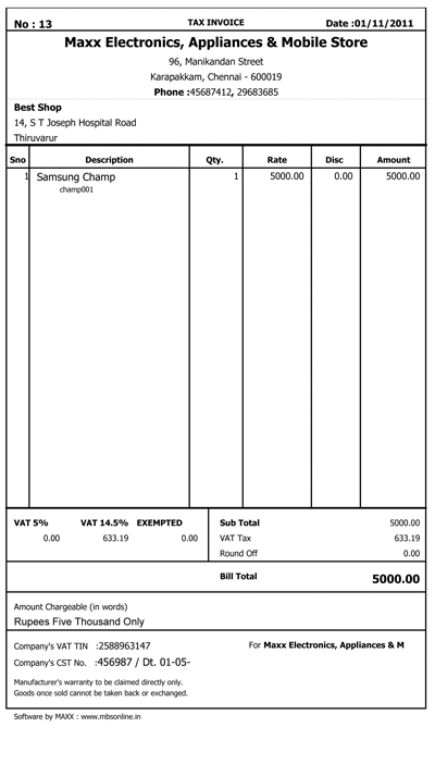 Invoice print samples microbusiness solutions pronofoot35fo Images